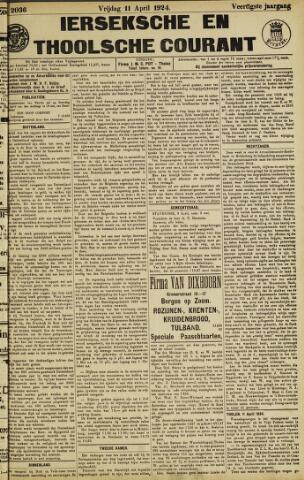 Ierseksche en Thoolsche Courant 1924-04-11