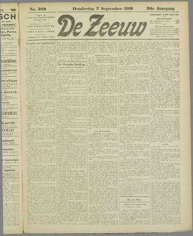 De Zeeuw. Christelijk-historisch nieuwsblad voor Zeeland 1916-09-07