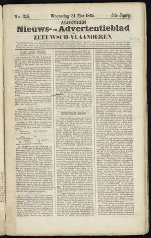 Ter Neuzensche Courant. Algemeen Nieuws- en Advertentieblad voor Zeeuwsch-Vlaanderen / Neuzensche Courant ... (idem) / (Algemeen) nieuws en advertentieblad voor Zeeuwsch-Vlaanderen 1865-05-31