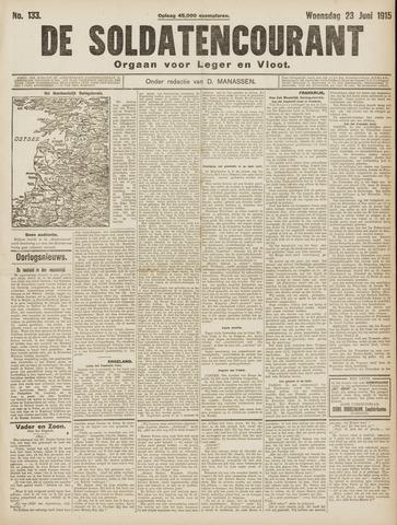De Soldatencourant. Orgaan voor Leger en Vloot 1915-06-23
