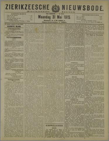Zierikzeesche Nieuwsbode 1915-05-31
