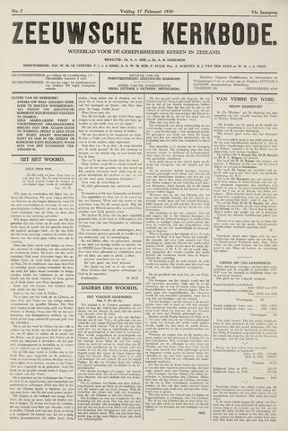 Zeeuwsche kerkbode, weekblad gewijd aan de belangen der gereformeerde kerken/ Zeeuwsch kerkblad 1939-02-17