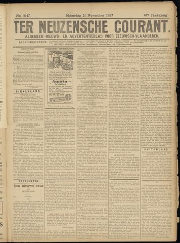 Ter Neuzensche Courant. Algemeen Nieuws- en Advertentieblad voor Zeeuwsch-Vlaanderen / Neuzensche Courant ... (idem) / (Algemeen) nieuws en advertentieblad voor Zeeuwsch-Vlaanderen 1927-11-21