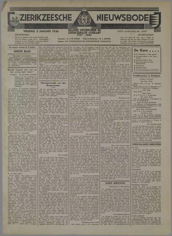 Zierikzeesche Nieuwsbode 1936-01-03