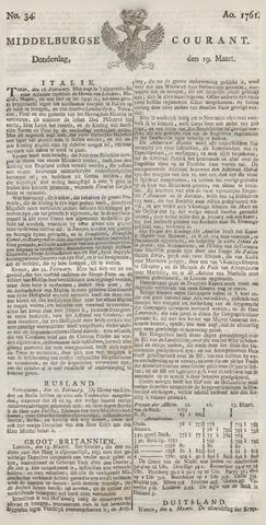 Middelburgsche Courant 1761-03-19