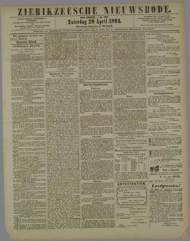 Zierikzeesche Nieuwsbode 1893-04-29