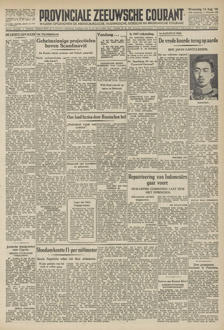 Provinciale Zeeuwse Courant 1946-08-14