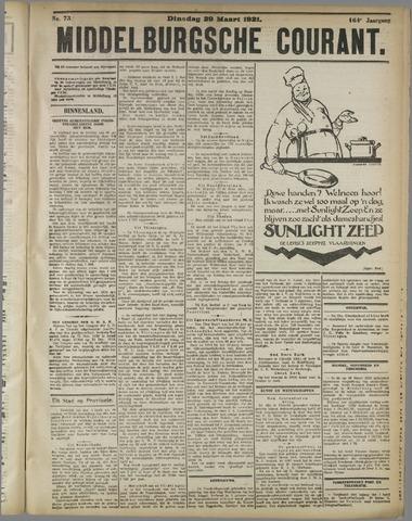 Middelburgsche Courant 1921-03-29