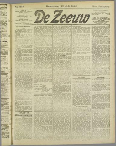 De Zeeuw. Christelijk-historisch nieuwsblad voor Zeeland 1920-07-22