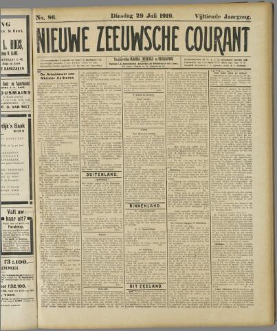 Nieuwe Zeeuwsche Courant 1919-07-29
