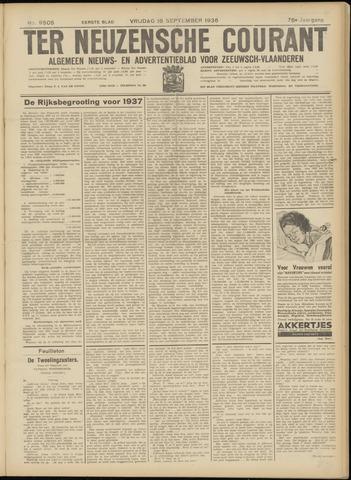 Ter Neuzensche Courant. Algemeen Nieuws- en Advertentieblad voor Zeeuwsch-Vlaanderen / Neuzensche Courant ... (idem) / (Algemeen) nieuws en advertentieblad voor Zeeuwsch-Vlaanderen 1936-09-18