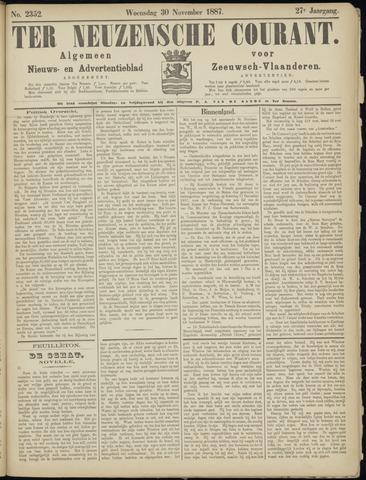 Ter Neuzensche Courant. Algemeen Nieuws- en Advertentieblad voor Zeeuwsch-Vlaanderen / Neuzensche Courant ... (idem) / (Algemeen) nieuws en advertentieblad voor Zeeuwsch-Vlaanderen 1887-11-30