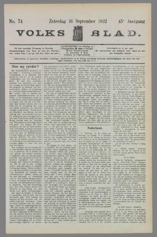 Volksblad 1922-09-16