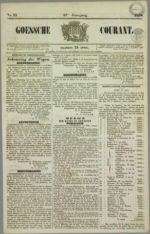 Goessche Courant 1856-04-21
