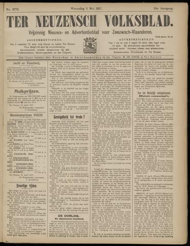 Ter Neuzensch Volksblad. Vrijzinnig nieuws- en advertentieblad voor Zeeuwsch- Vlaanderen / Zeeuwsch Nieuwsblad. Nieuws- en advertentieblad voor Zeeland 1917-05-02