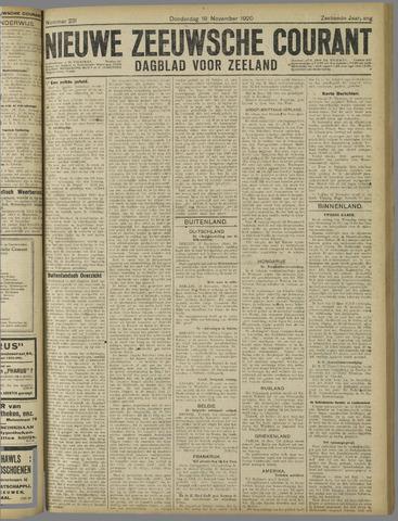 Nieuwe Zeeuwsche Courant 1920-11-18