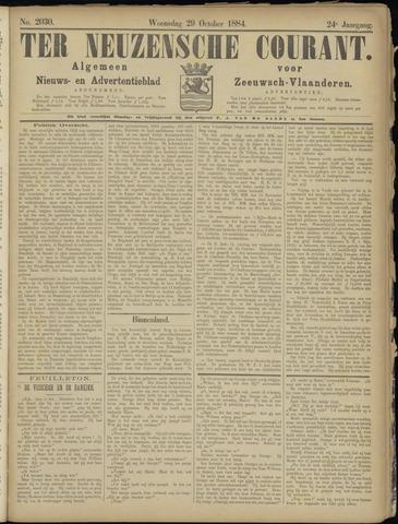 Ter Neuzensche Courant. Algemeen Nieuws- en Advertentieblad voor Zeeuwsch-Vlaanderen / Neuzensche Courant ... (idem) / (Algemeen) nieuws en advertentieblad voor Zeeuwsch-Vlaanderen 1884-10-29