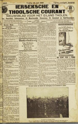 Ierseksche en Thoolsche Courant 1927-07-22