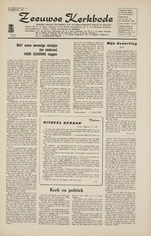 Zeeuwsche kerkbode, weekblad gewijd aan de belangen der gereformeerde kerken/ Zeeuwsch kerkblad 1965-02-19