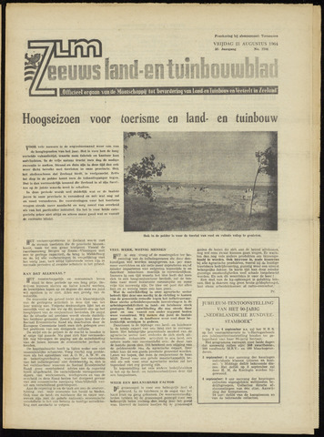 Zeeuwsch landbouwblad ... ZLM land- en tuinbouwblad 1964-08-21