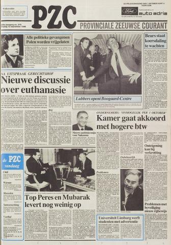 Provinciale Zeeuwse Courant 1986-09-12