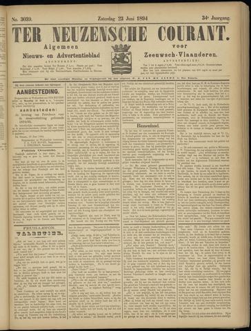 Ter Neuzensche Courant. Algemeen Nieuws- en Advertentieblad voor Zeeuwsch-Vlaanderen / Neuzensche Courant ... (idem) / (Algemeen) nieuws en advertentieblad voor Zeeuwsch-Vlaanderen 1894-06-23