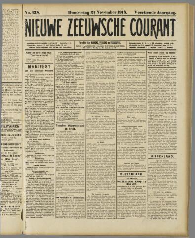 Nieuwe Zeeuwsche Courant 1918-11-21