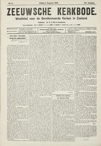 Zeeuwsche kerkbode, weekblad gewijd aan de belangen der gereformeerde kerken/ Zeeuwsch kerkblad 1929-08-02