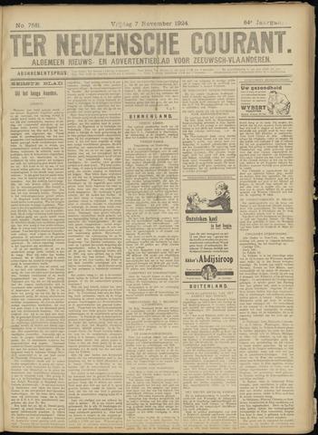 Ter Neuzensche Courant. Algemeen Nieuws- en Advertentieblad voor Zeeuwsch-Vlaanderen / Neuzensche Courant ... (idem) / (Algemeen) nieuws en advertentieblad voor Zeeuwsch-Vlaanderen 1924-11-07