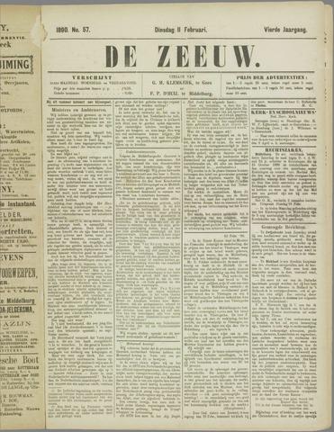 De Zeeuw. Christelijk-historisch nieuwsblad voor Zeeland 1890-02-11
