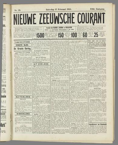 Nieuwe Zeeuwsche Courant 1915-02-27