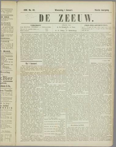 De Zeeuw. Christelijk-historisch nieuwsblad voor Zeeland 1890