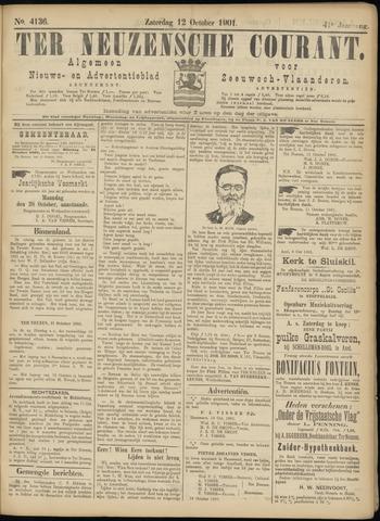 Ter Neuzensche Courant. Algemeen Nieuws- en Advertentieblad voor Zeeuwsch-Vlaanderen / Neuzensche Courant ... (idem) / (Algemeen) nieuws en advertentieblad voor Zeeuwsch-Vlaanderen 1901-10-12