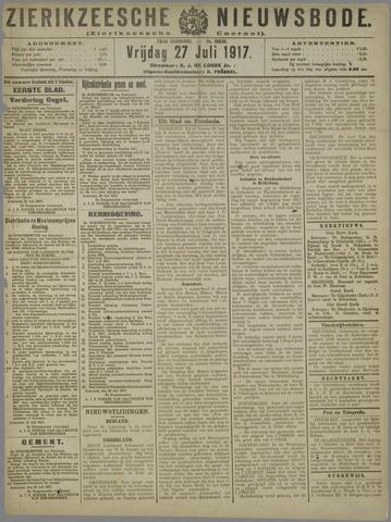 Zierikzeesche Nieuwsbode 1917-07-27
