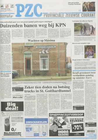 Provinciale Zeeuwse Courant 2001-10-25
