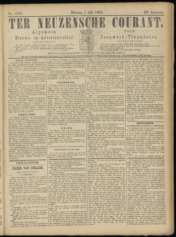 Ter Neuzensche Courant. Algemeen Nieuws- en Advertentieblad voor Zeeuwsch-Vlaanderen / Neuzensche Courant ... (idem) / (Algemeen) nieuws en advertentieblad voor Zeeuwsch-Vlaanderen 1902-07-01