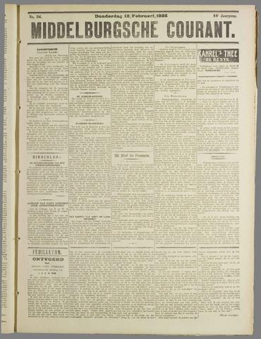 Middelburgsche Courant 1925-02-12