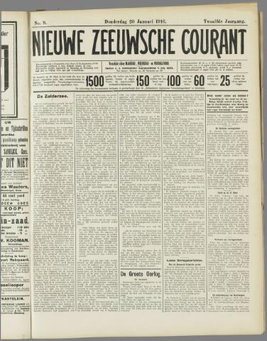 Nieuwe Zeeuwsche Courant 1916-01-20