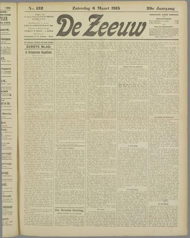 De Zeeuw. Christelijk-historisch nieuwsblad voor Zeeland 1915-03-06