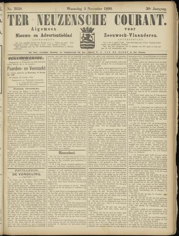 Ter Neuzensche Courant. Algemeen Nieuws- en Advertentieblad voor Zeeuwsch-Vlaanderen / Neuzensche Courant ... (idem) / (Algemeen) nieuws en advertentieblad voor Zeeuwsch-Vlaanderen 1890-11-05
