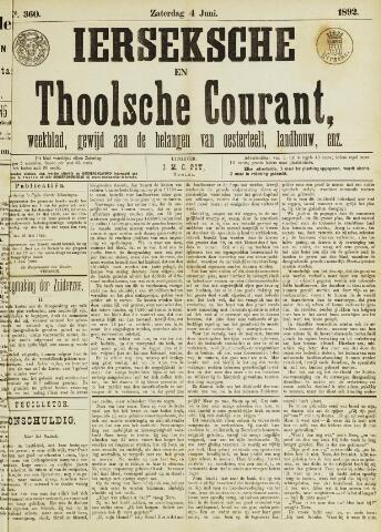 Ierseksche en Thoolsche Courant 1892-06-04