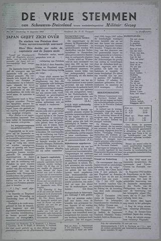Vrije Stemmen van Schouwen-Duiveland, tevens mededeelingenblad Militair Gezag 1945-08-16