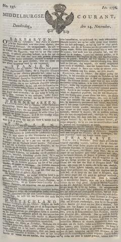 Middelburgsche Courant 1776-11-14