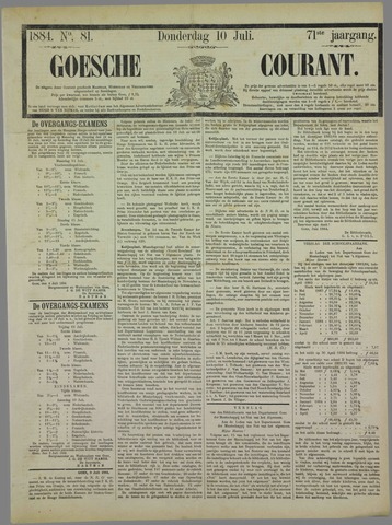 Goessche Courant 1884-07-10