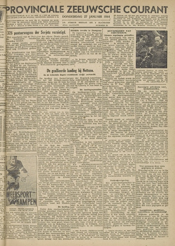 Provinciale Zeeuwse Courant 1944-01-27