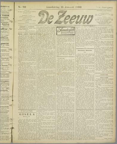 De Zeeuw. Christelijk-historisch nieuwsblad voor Zeeland 1920-01-15