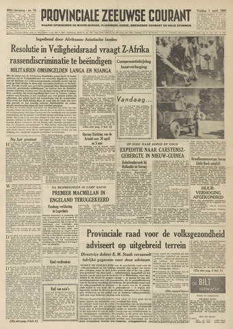 Provinciale Zeeuwse Courant 1960-04-01