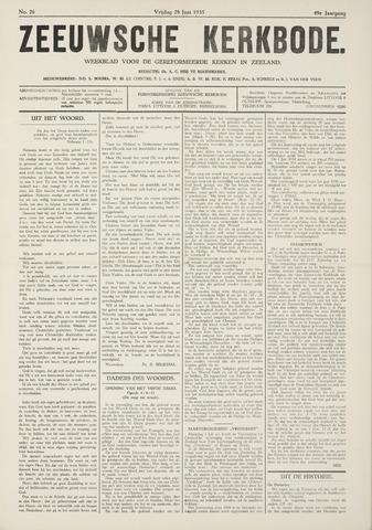 Zeeuwsche kerkbode, weekblad gewijd aan de belangen der gereformeerde kerken/ Zeeuwsch kerkblad 1935-06-28