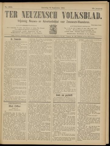Ter Neuzensch Volksblad. Vrijzinnig nieuws- en advertentieblad voor Zeeuwsch- Vlaanderen / Zeeuwsch Nieuwsblad. Nieuws- en advertentieblad voor Zeeland 1912-09-21