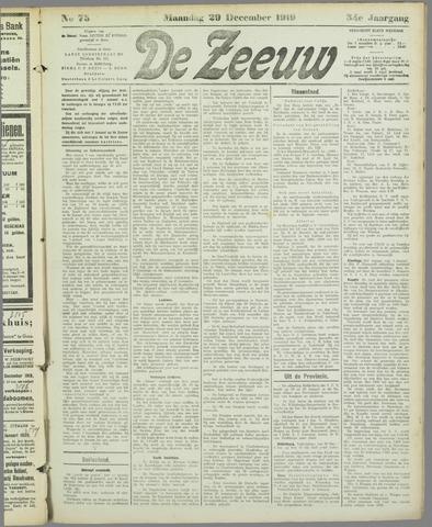 De Zeeuw. Christelijk-historisch nieuwsblad voor Zeeland 1919-12-29